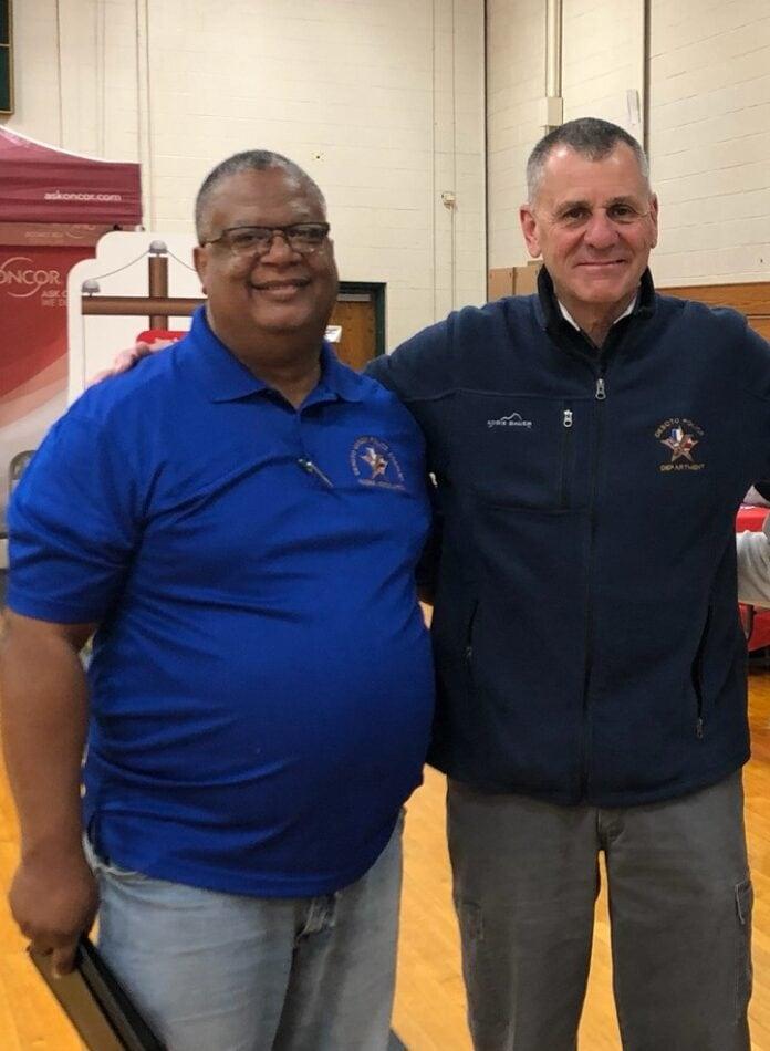 Ray Dent and Police Chief Joe Costa