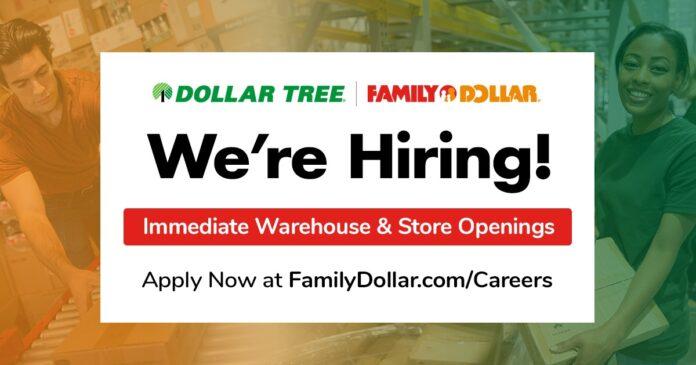Family Dollar hiring poster