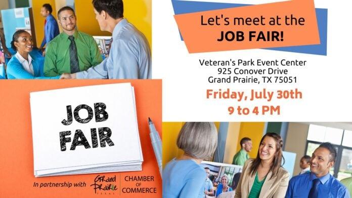 Grand Prairie job fair poster