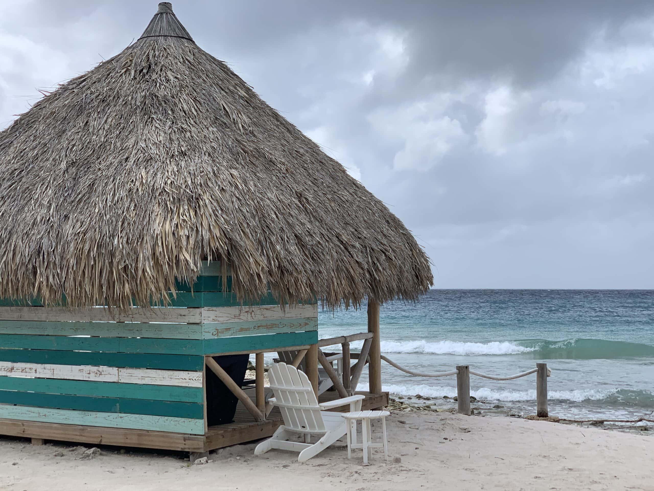 hut on beach in Curacao