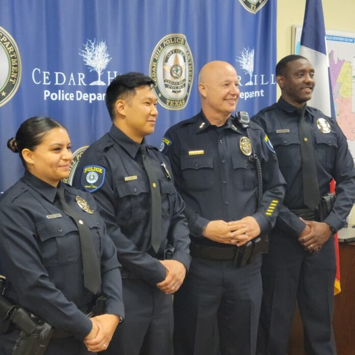 Cedar Hill Police Officers with Chief