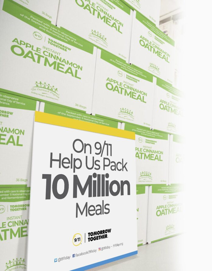 picture of 10 million meals sign