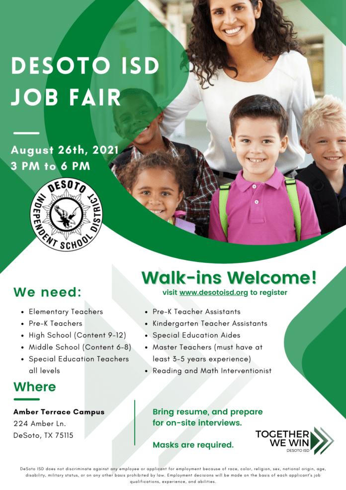 DeSoto ISD job fair poster