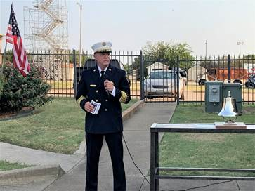 Fire Chief Jerry Duffield in uniform