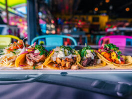 Assorted tacos on a plate