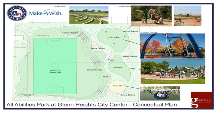 Glenn heights Park rendering