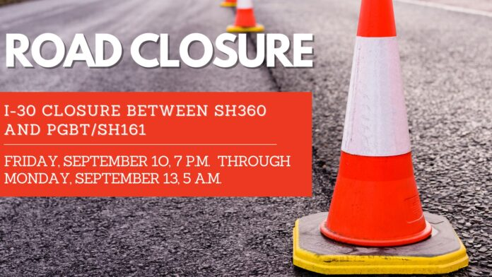 Grand prairie road closure