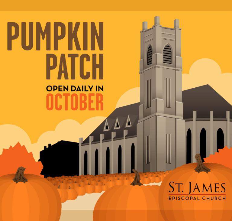 Pumpkin patch flyer st. James