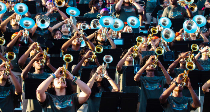 Duncanville marching band horn section