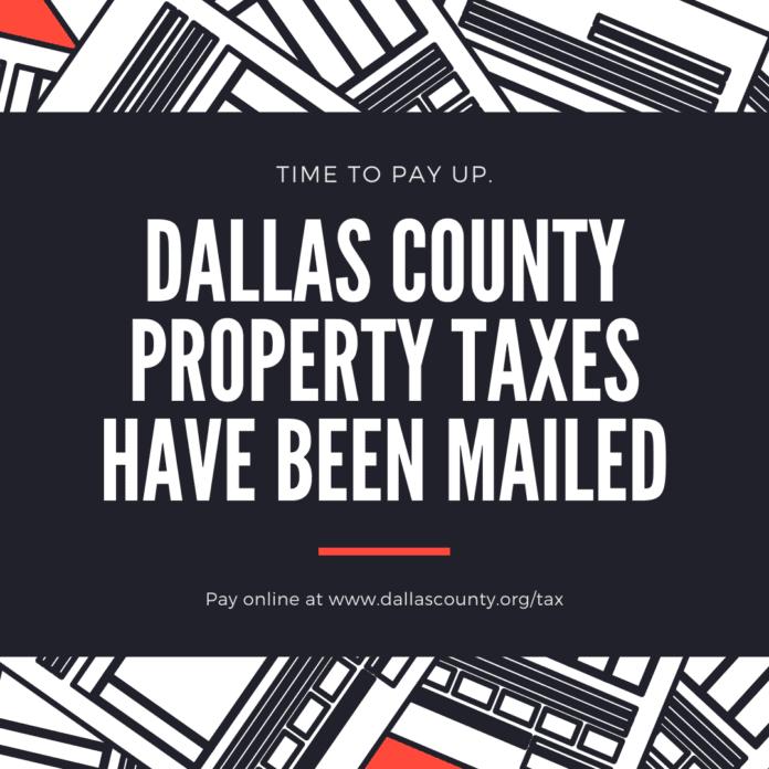 Dallas County taxes flyer
