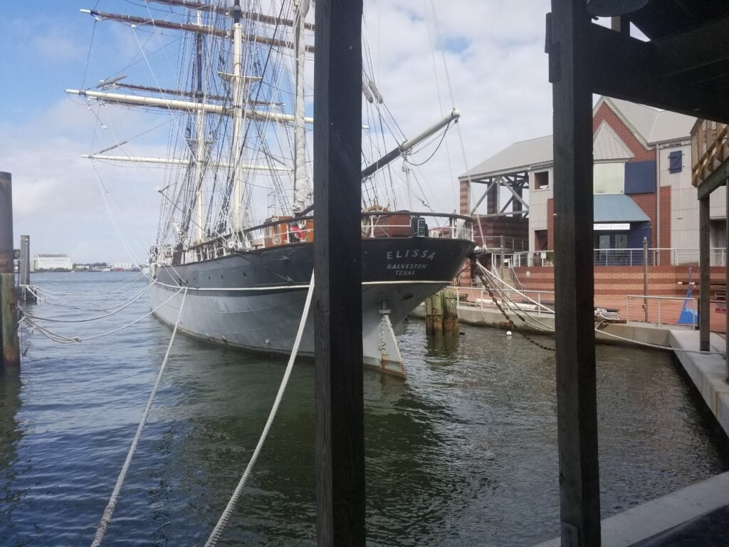 Elissa docked in Galveston