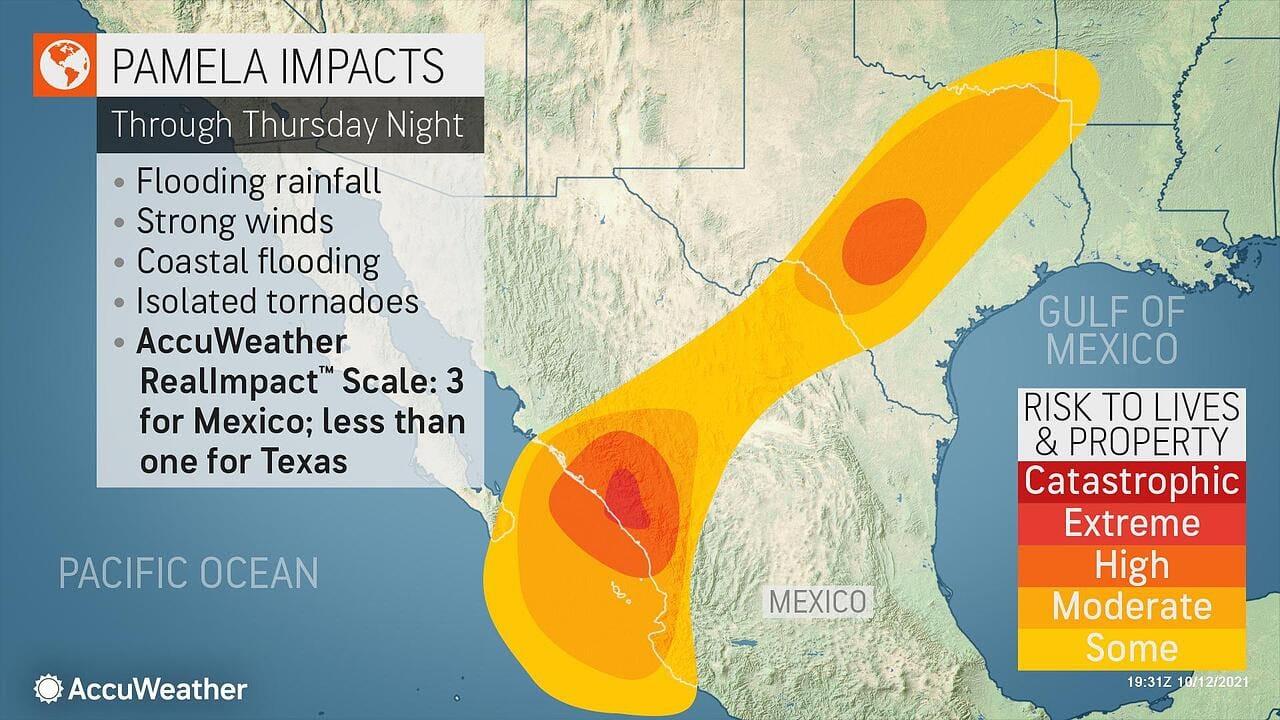 Pamela impact map