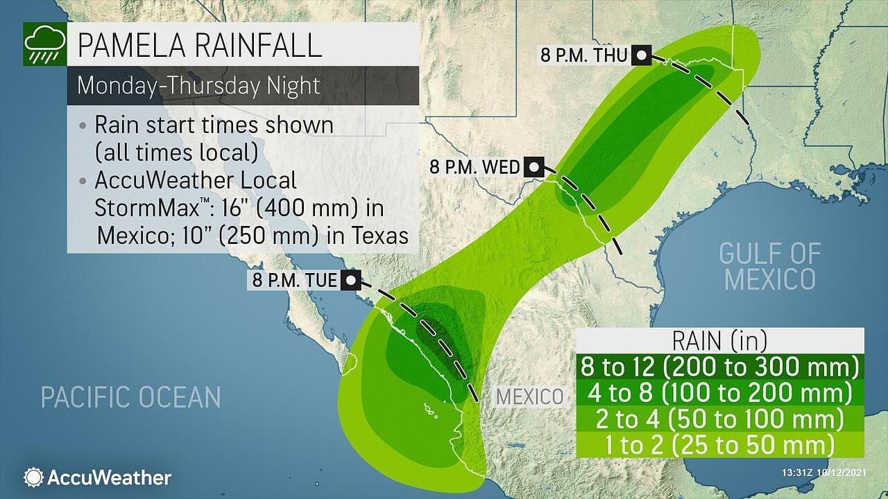 rainfall map october 12